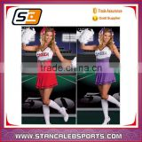 stan caleb Lastest custom wholesale cheer dance costumes short sleeve cheerleading uniforms for girls