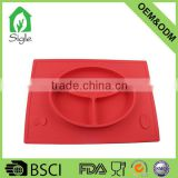 OEM ODM bpa free food grade silicone baby dinner bowl mats silicone placemat plate