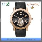 FS FLOWER - Luxury Classic Quality Man Watch Automatic Mechanical Movement Sapphire Glass With Genuine Leather Strap