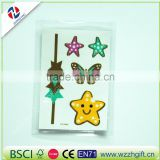 new arrived customized ecofriendly craft quality decorative unique fancy decal hair sticker