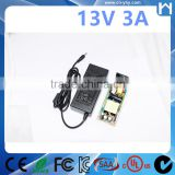 Switching power supply 100-240Vac universal AC-DC adapter 13V 3A charger for security IP camera
