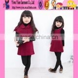 For Baby Winter Woolen Dress Dress With Cape Woolen Dress