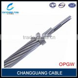 High quality central Al covered stainless steel tube Optic fiber power cable over ground wire 48 core opgw