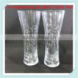 300ml carlsberg glass cup 500ml carlsberg beer glass hand made glass beer carlsberg cup with high quality