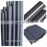 Pultruded / pull-winded / roll wrapped carbon fiber round tube, carbon fiber tube, fiber carbon tube
