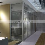 New flexible design acoustic modular easy assembly office partition glass wall(HK85-series)