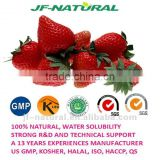 food grade strawberry juice powder ISO, GMP, HACCP, KOSHER, HALAL certificated manufacture