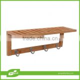 Bathroom accessory bamboo wall shelf units
