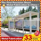 outdoor furniture high quality bus shelters with advertising billboard