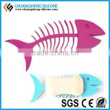 Fish shaped magnetic soap holder, eco-friendly silicone soap keeper for bathroom