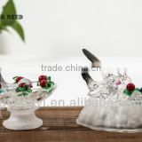 buautiful acrylic table decoration with LED for hummingbird