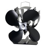 4-Blade Heat Powered Stove Fan for Wood / Log Burner/Fireplace -Eco Friendly