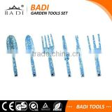 floral printing 6 pieces sets gardening tools sets for weeding
