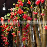 artificial silk hanging vine with leaves and flowers wedding hotel home garden decoration
