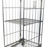 Zinc Plated Roll Cage Trolley Steel Laundry With Wheels ISO9001