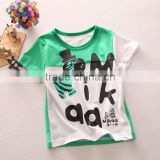 R&H 2015 breathable OEM high quality new style factory price Children O-Neck T-shirt