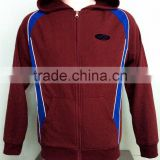 2016 New fashion designs top quality hoodies men athletic matching color long sleeve full zip jackets