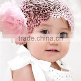 2014 Korean new fashion baby headdress with double flowers Toddler bud silk hair accessoires baby hairband wide lace headband
