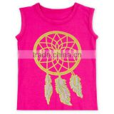 Wholesale teenager baby girls dream catcher tops baba suit kids shirt M6082112