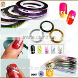 Nail art gold and silver line 12 color line with a plastic straight line painted line nail stickers