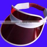 New hot selling new promotion plastic sun visor pvc visor pvc sun visor cap