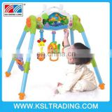 2015 hot sale 2 in 1 Baby mobile music baby play gym toy, baby fitness frame