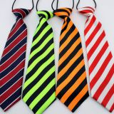 Solid Colors White Mens Silk Necktie Satin Striped