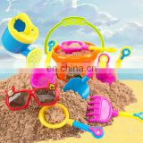 9 pcs Beach Bucket Rake,Shovel and moulds Toys Playset for Kids in reusable mesh bag Children Beach Sand Pit fun Toys Set