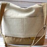 waxed canvas diaper bag with waterproof fabric
