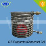 WH Best Quality stainless steel flat plate heat exchanger, stainless coil wort chiller