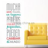 Long and simple removable wall stickers with english words and letters for home decoration