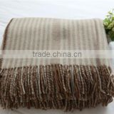 NO.1 China blanket factory Baby sleeping children 100%baby lambs wool summer king size sofa wool throw blanket