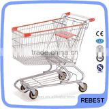 Attractive design supermarket rolling basket cart