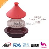 Flexible Morocca Silicone Tagine Steamer Microwave safe heat resistant FDA LFGB DGCCRF food grade