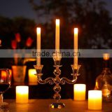 3 arms crystal candelabra for wedding decoration