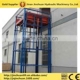 Widely used hydraulic guide rail cargo chain elevator platform lift