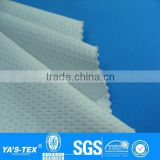 3 layers white blue dot knitting laminated waterproof nylon spandex fabric for sportswear jacket