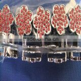 Chrome Diamond Cartoon Jewelry Wholesale 18MM Lovely Slide Rhinestone DIY Plum Flower Charms