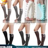 European Hot Sale Cable Knit Button Down Lady Boot Socks Women Leg Warmers For Autumn & Winter Wear