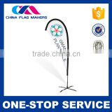 2015 Hot Sales Cheaper Price Simple Design Customized Logo Printed Recycle Mental Outdoor Teardrop Flags
