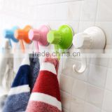 korean style hanging suction cup with magic strong hook plastic wall hook vacuum suction cups                                                                         Quality Choice