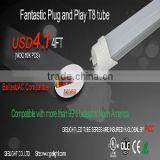 Double End Input Compatible 2ft 3ft 4ft T8 Led Tube UL DLC                                                                         Quality Choice
