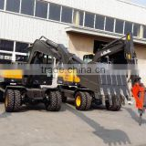 Hitachi Excavator, Atv Backhoe Excavator, Excavator for Sale, ,LG680 Excavator, Walking Wheel Excavator, 8T Wheel Excavator