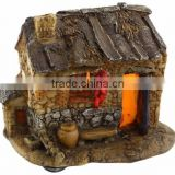 Top Collection Enchanted Story Garden and Terrarium Southern Style Fairy House Outdoor Decor with Light