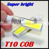 Free shipping 50pcs/lot 168 bulb t10 cob 10w higt power 194 W5W LED Reverse Light SMD CAR LED lights