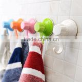 Plastic wall strong locking vacuum suction cup hanger vacuum hook