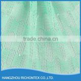 Customized Design High Quality Mint Green Lace Fabric