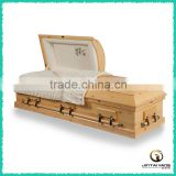 American standard solid wooden caskets, pine casket made in China