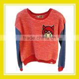 2016 Fashion Products Bros Devil Baby Rinne Terry Cloth Women Long Sleeve Red Blue Fluffy Sweater