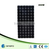 grade a poly or mono 200W 36V normal dimension Monocrystalline Silicon Cells Solar Panel price per watt in india